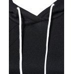 Slant Side Pocket Long Sleeve Drawstring Hoodie deal