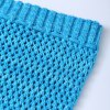 Simple Blue Bowknot Lace-Up Photography or Sofa Knitted Mermaid Blanket For Kids for sale