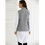 Turtle Neck Ribbed Knitting Tank Top for sale