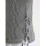best Turtle Neck Ribbed Knitting Tank Top