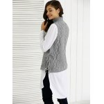 Turtle Neck Ribbed Knitting Tank Top deal
