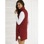 Cowl Collar Pocket Design Ribbed Knitwear deal