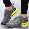 Buy Lace-Up Mesh Air Cushion Athletic Shoes 43 DEEP GRAY