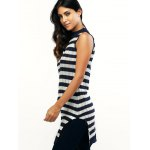Sleeveless Striped Furcal Ribbed Knitwear deal