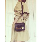 cheap Lapel Belted Double-Breasted Trench Coat