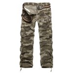 Zipper Fly Straight Leg Multi-Pockets Embellished Camo Pants