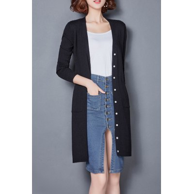 Patch Pocket Single Breasted Cardigan