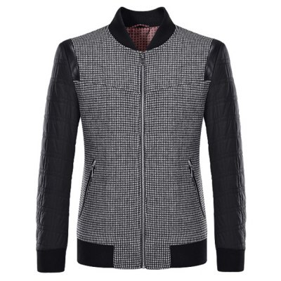 Stand Collar Splicing Jacket