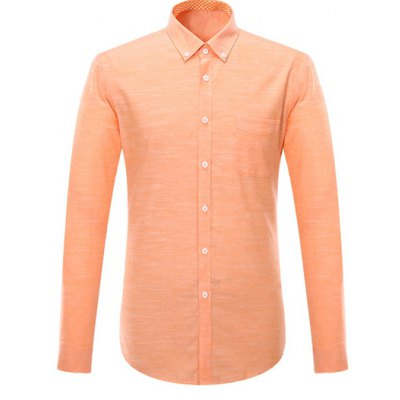 Pocket Design Long Sleeve Formal Shirt