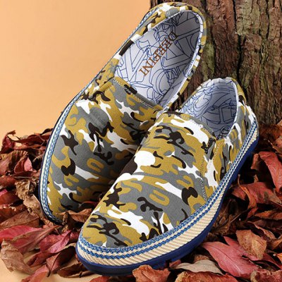Round Toe Camouflage Print Casual Shoes ODM Designer