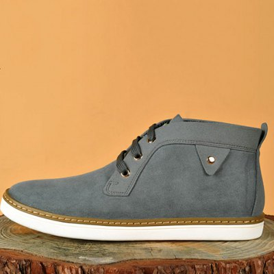 Mid Top Suede Lace-Up Casual Shoes ODM Designer