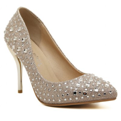 Stiletto Heel Rhinestones Pumps