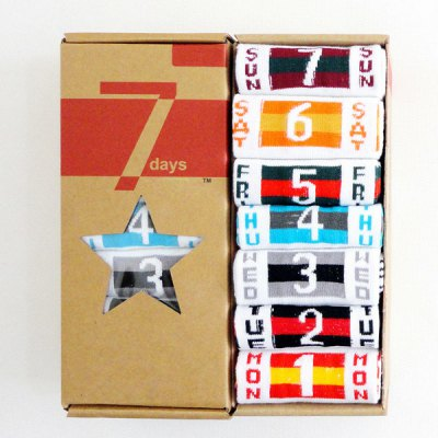 Number and Flag Pattern Socks