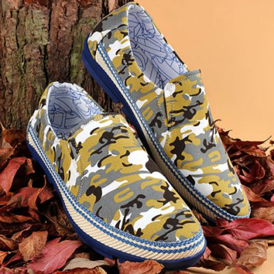 Camouflage Print Casual Shoes