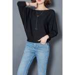 Boat Neck Batwing Sleeve Top deal