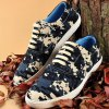 cheap Camo Pixel Print Lace-Up Casual Shoes ODM Designer