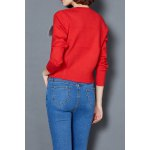 cheap Open Front Short Cardigan With Breastpin