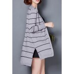 cheap Striped High Low Cardigan