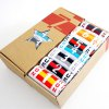 cheap 7 Pairs of Number and Flag Pattern Socks