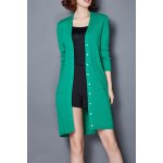 cheap Patch Pocket Single Breasted Cardigan