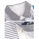 Pinstriped Button-Up Turn-down Collar Short Sleeve Shirt ODM Designer for sale