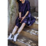 Puffball Loose Knee Length Dress for sale