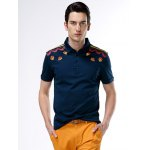 Turn-Down Collar Abstract Printed Polo Shirt ODM Designer