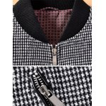 Stand Collar Small Plaid Pattern Splicing Jacket ODM Designer deal