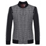 Stand Collar Small Plaid Pattern Splicing Jacket ODM Designer