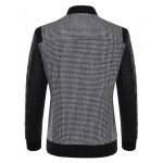 cheap Stand Collar Small Plaid Pattern Splicing Jacket ODM Designer