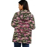 best Colorful Camo Print Hooded Loose Coat
