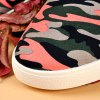 Rivet Lace-Up Camouflage Print Casual Shoes ODM Designer for sale