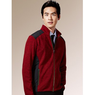 Zippered Color Splicing Napping Jacket ODM Designer