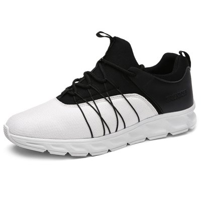 Spliced Lace-Up Athletic Shoes