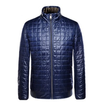 Geometric Zip Up Padded Jacket ODM Designer