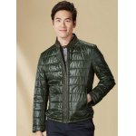 Zippeded Patched Leather Paneled Wadded Coat ODM Designer for sale