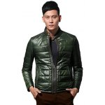 best Zippeded Patched Leather Paneled Wadded Coat ODM Designer