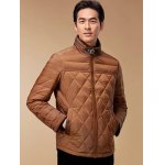Stand Collar Geometric Pattern Padded Jacket ODM Designer deal