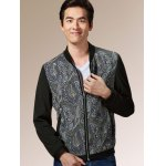 Zip Up Printed Long Sleeves Jacket ODM Designer deal