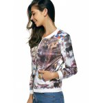 Long Sleeves Zipped Printed Jacket deal