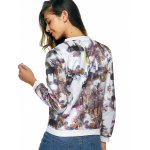 Long Sleeves Zipped Printed Jacket for sale