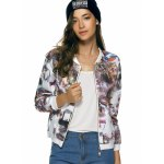 cheap Long Sleeves Zipped Printed Jacket