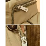 Zipper Button Closure Stand Collar Padded Jacket ODM Designer for sale