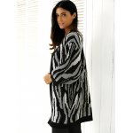 Loose-Fitting Striped Puff Sleeves Cardigan deal