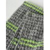 Winter Stripe and Houndstooth Pattern Tassel Shawl Wrap Pashmina deal