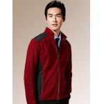 cheap Zippered Color Splicing Napping Jacket ODM Designer