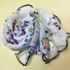 cheap Ethnic Colorful Flowers Pattern Covered Edge Soft Scarf