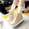 Lace-Up Stitching PU Leather Athletic Shoes deal