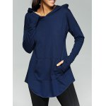 Loose-Fitting Front Pocket Thumb Hole Hoodie