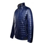 cheap Geometric Zip Up Padded Jacket ODM Designer